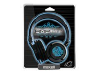 Maxell Heavy-Bass Headphones, Blue