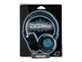 Maxell Heavy-Bass Headphones, Blue, 190265, 13070921, Headphones