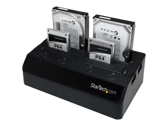 StarTech.com 4-Bay eSATA USB 3.0 to SATA HDD Docking Station, SATDOCK4U3E, 12402955, Hard Drive Enclosures - Multiple
