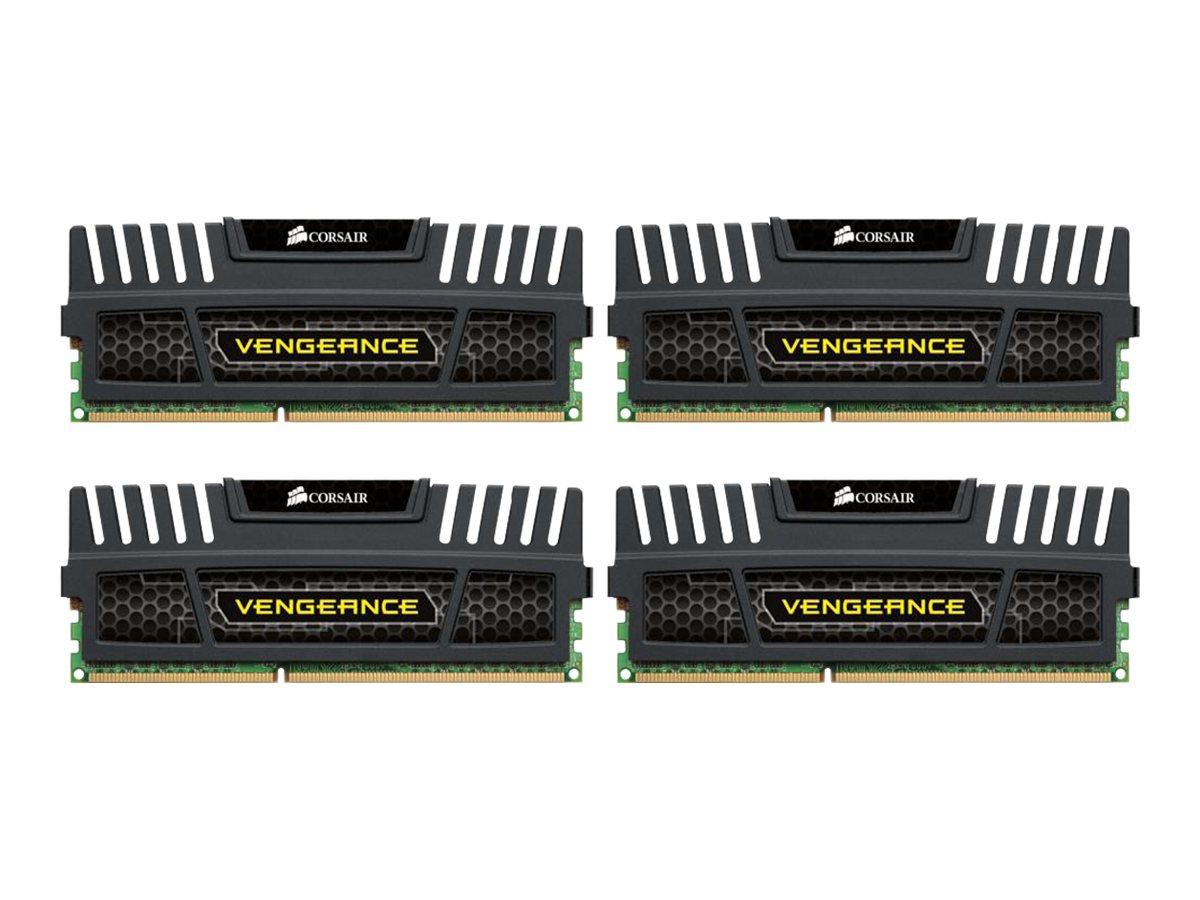 Corsair 32GB PC3-12800 240-pin DDR3 SDRAM DIMM Kit, CMZ32GX3M4X1600C10, 13433260, Memory