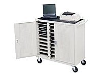 Bretford Manufacturing 30-Unit Device Cart with Front Electrical, Gray Mist