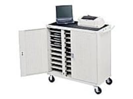 Bretford Manufacturing 30-Unit Device Cart with Front Electrical, Gray Mist, LAP30EFR-GM, 21016538, Computer Carts