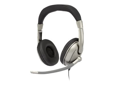 Cyber Acoustics Stereo Headphone - Adult w  Mic, AC-8003, 18039106, Headsets (w/ microphone)