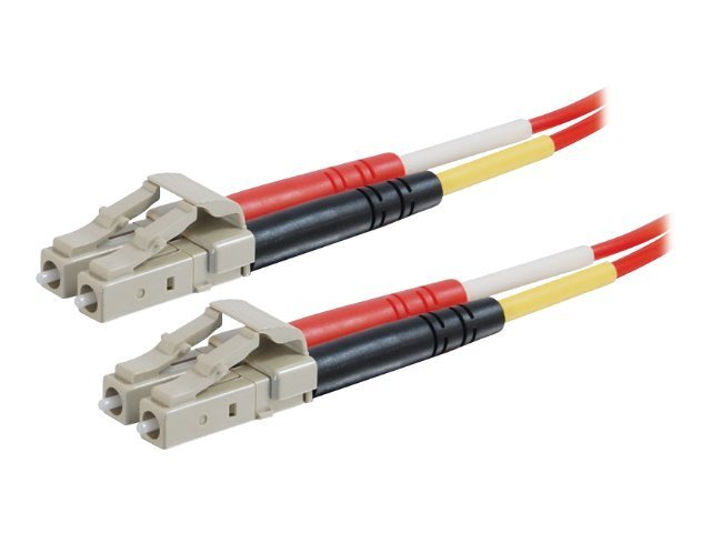 C2G Fiber Patch Cable, LC-LC, 62.5 125, Plenum, Duplex,  Multimode, Red, 5m