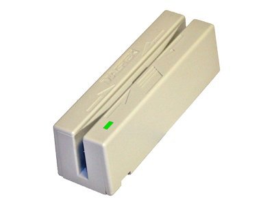 MagTek USB HID MSR, Dual-Head, 3-Track, White, USB Cable 6ft., 21040146, 7373328, Magnetic Stripe/MICR Readers