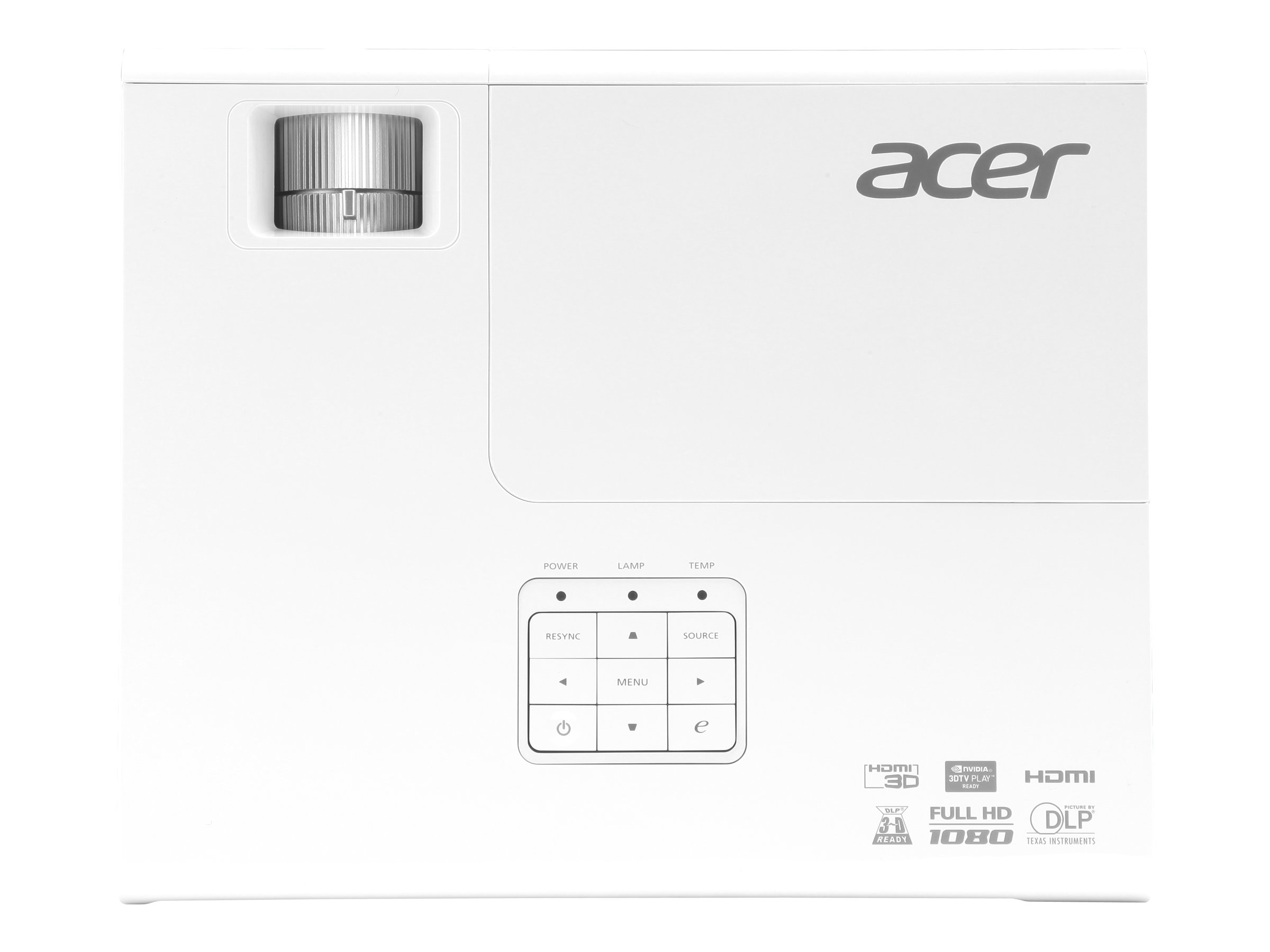 Acer H6510BD Full HD DLP Projector, 3000 Lumens, White, MR.JFZ11.00A