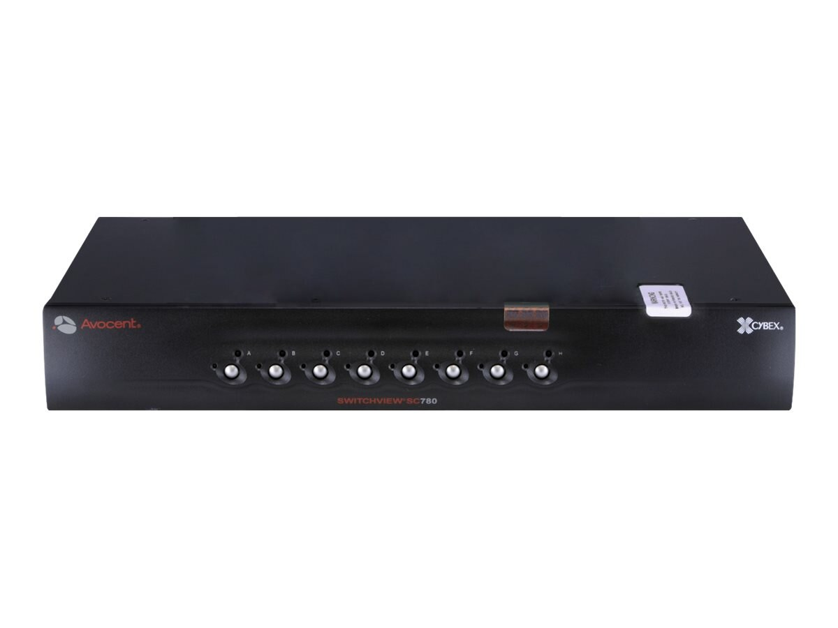 Avocent SwitchView SC Switch, (1) User,(8) Systems, USB, DVI-I Dual Link, Dual Head, Audio