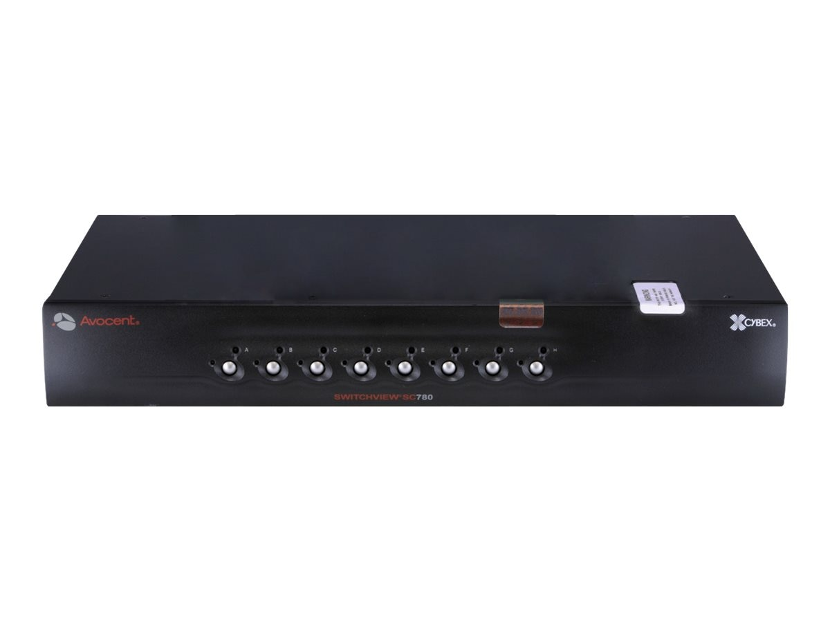 Avocent SwitchView SC Switch, (1) User,(8) Systems, USB, DVI-I Dual Link, Dual Head, Audio, SC780-001, 13481940, KVM Switches