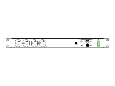 Eaton Basic EPDU 1U FILT SRG 5-20P Input 12 5-20R Outlets, TPC12F-A2, 9497375, Power Distribution Units