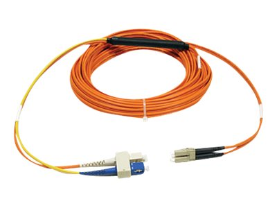 Tripp Lite Mode Fiber Conditioning Patch Cable, SC-LC, 1m, N424-01M, 7485901, Cables