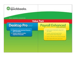 Intuit Corp. QuickBooks Desktop 2017 Pro with Payroll Enhanced Box Pack 1 user, 428235, 33725171, Software - Financial