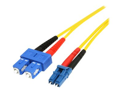 StarTech.com LC-SC Single Mode Duplex Fiber Patch Cable, 4m, SMFIBLCSC4, 16475318, Cables