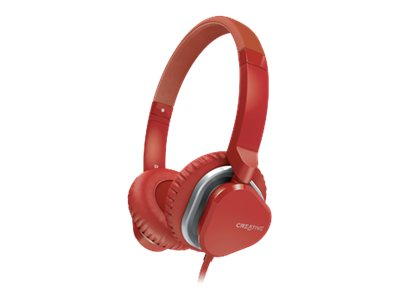Creative Labs HITZ MA2400 Headset, Red, 51EF0640AA010, 16155832, Headsets (w/ microphone)