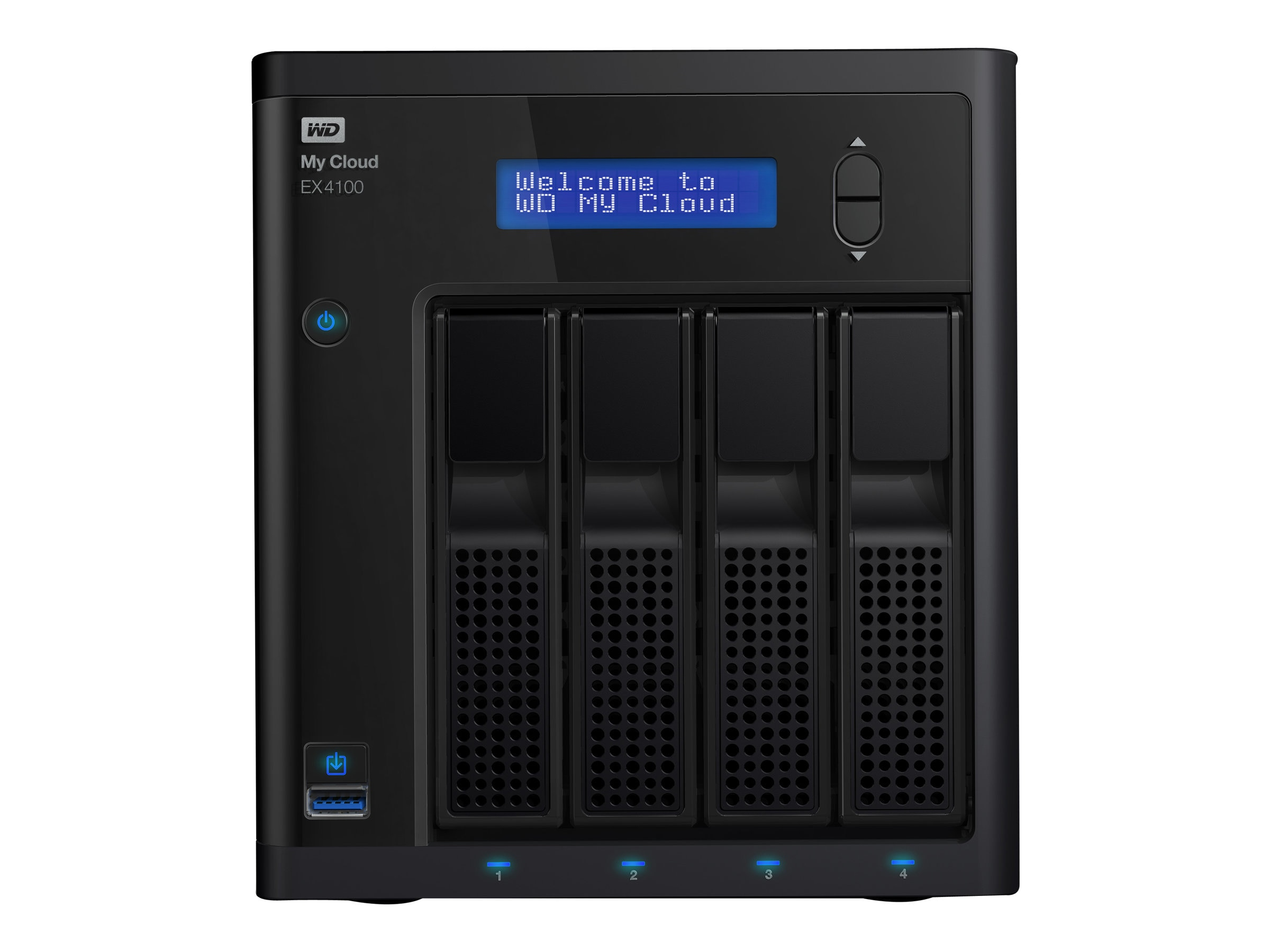 WD 16TB My Cloud EX4100 Network Attached Storage, WDBWZE0160KBK-NESN