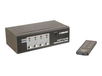 C2G 4-Port VGA Switcher Extender with Audio, Black