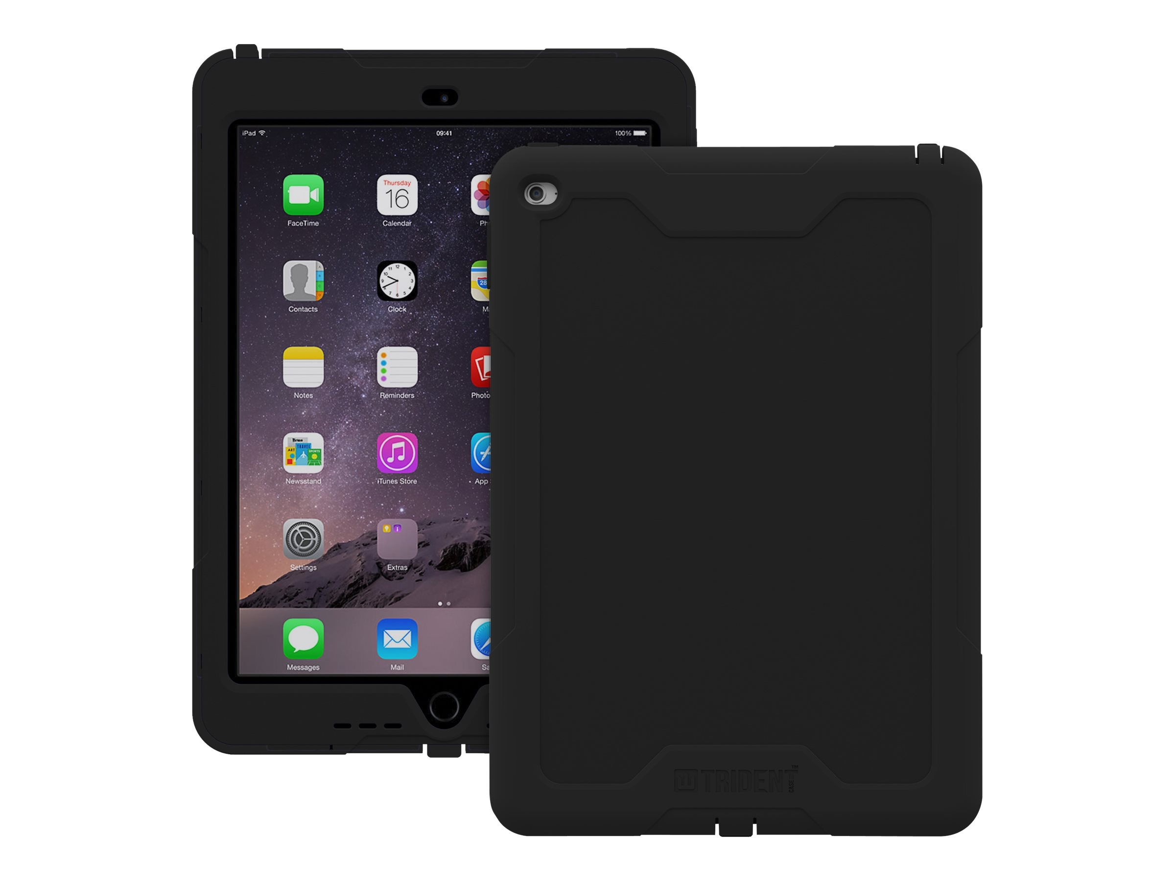 Trident Case 2015 Cyclops Case for iPad Air 2, Black, CY-APIPA2-BK000, 19013661, Carrying Cases - Tablets & eReaders