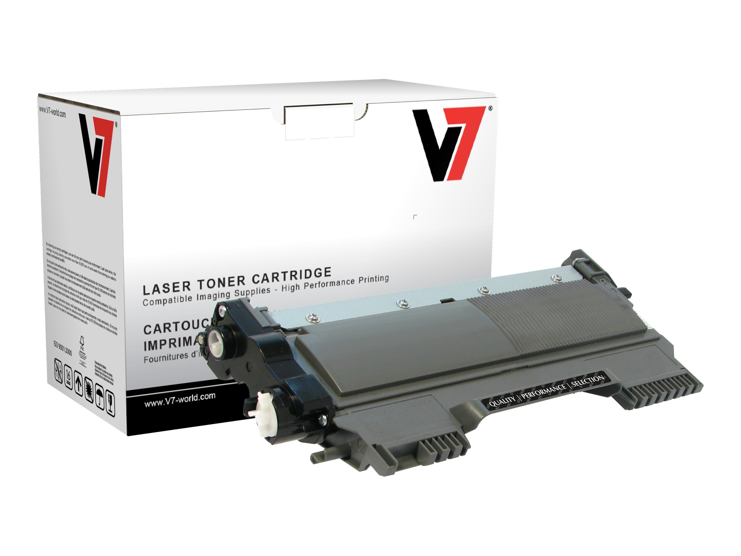 V7 TN450 Black High Yield Toner Cartridge for Brother HL-2240 (TAA Compliant), TBK2TN450H, 13714862, Toner and Imaging Components