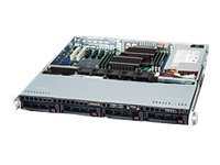 Supermicro SuperChassis SC813MFTQ 1U RM Compact, Short-Depth (2x)Intel AMD 4x3.5 HS Bays 4xFans 520W, CSE-813MFTQ-520CB, 15274178, Cases - Systems/Servers