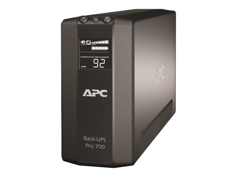 APC Power-Saving Back-UPS Pro 700VA 420W 120V 5-15P Input, (6) 5-15R Outlets