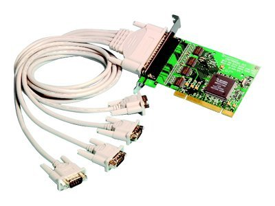 Brainboxes 4-Port RS232 PCI Serial Port Card DB25, UC-265