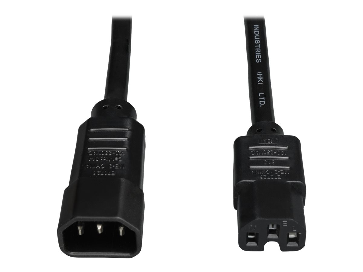 Tripp Lite Heavy Duty Power Cord 14AWG C14 to C15, 6ft, P018-006