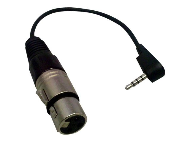 Comprehensive Premium 4-pole TRRS 3.5mm Mini Plug to XLR Jack Audio Adapter, Black