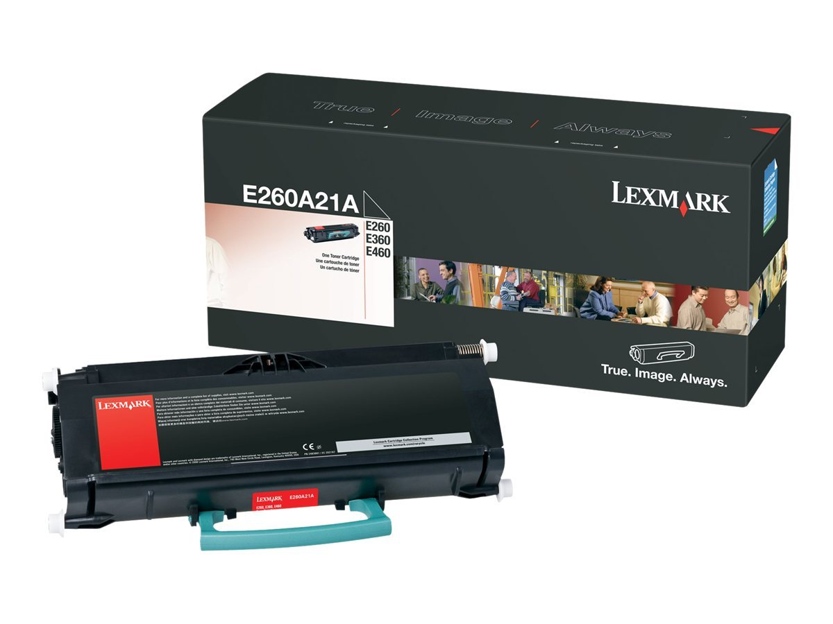 Lexmark Black Toner Cartridge for E260, E360 & E460 Series Printers, E260A21A, 9163746, Toner and Imaging Components