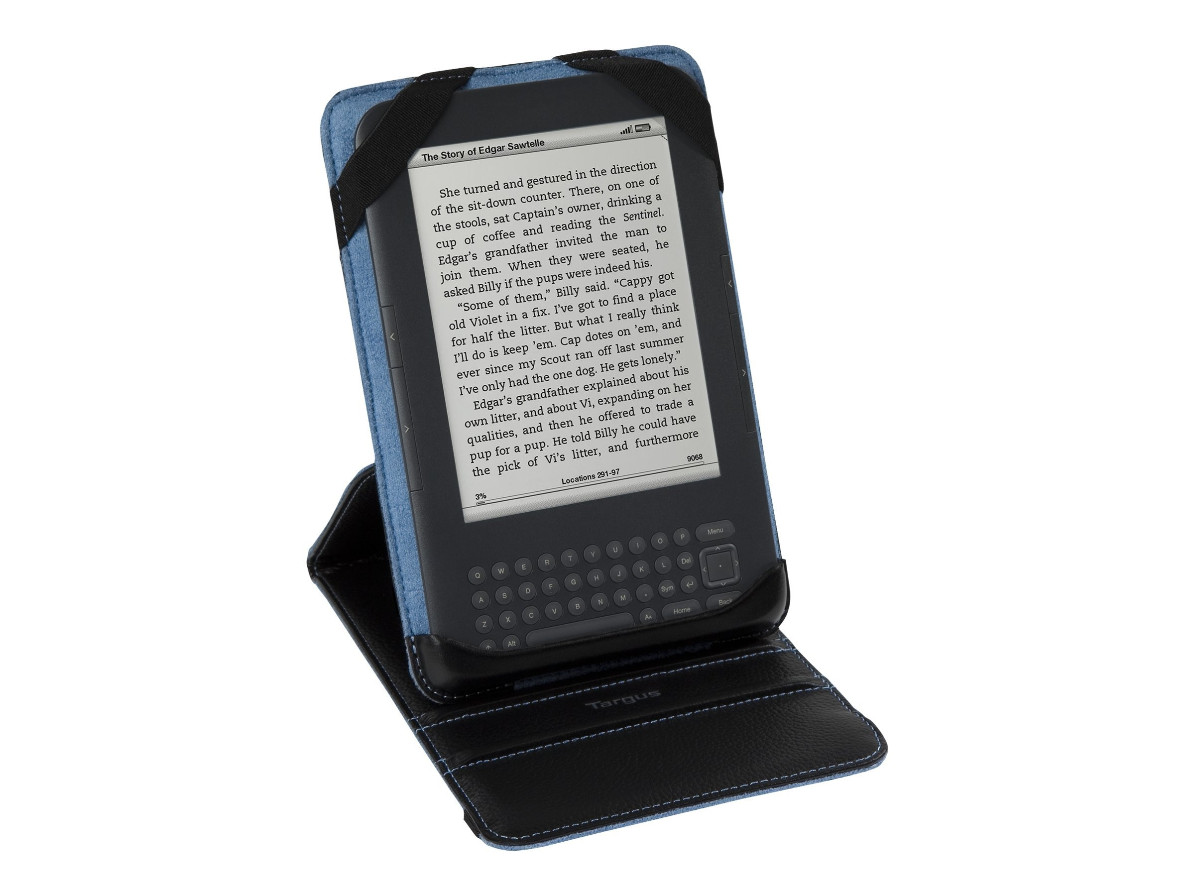 Targus Truss Case Stand for Kindle 3, Black Blue, THZ031US, 12599680, Protective & Dust Covers