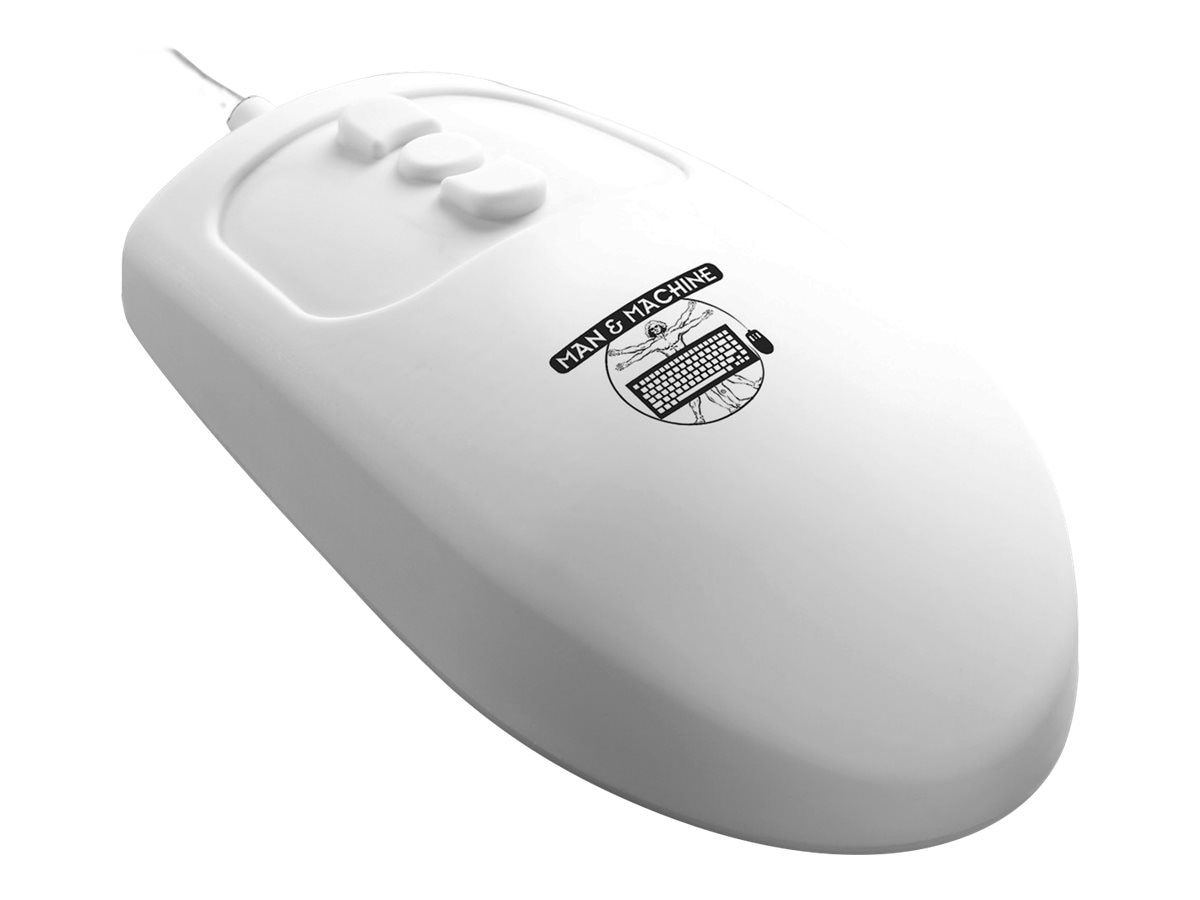 Man & Machine Mighty Mouse, White
