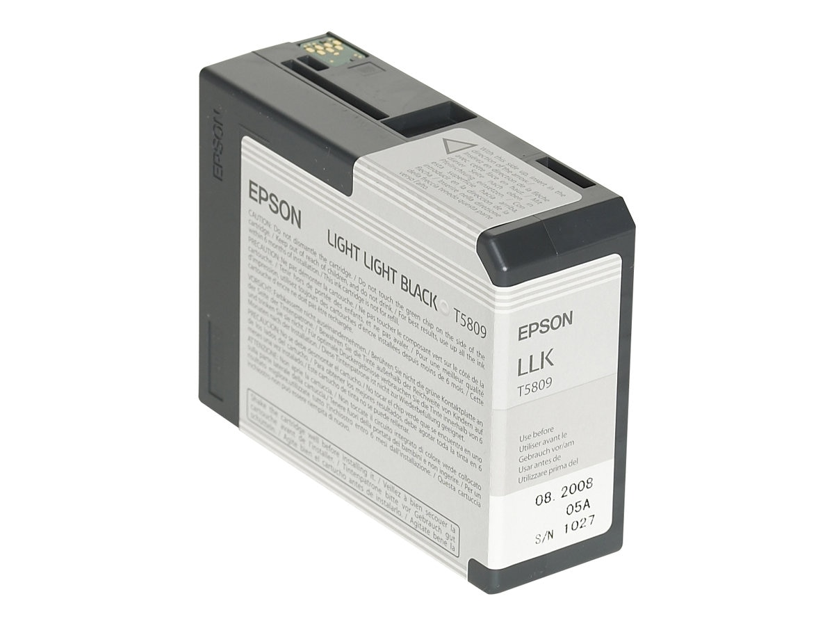 Epson Light Light Black UltraChrome K3 Ink Cartridge for Stylus Pro 3800 3800 Professional Edition, T580900, 7159663, Ink Cartridges & Ink Refill Kits