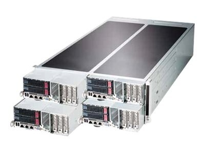 Supermicro SuperServer F627G3-FT+ 4U RM 4-Node E5-2600 Family Max.512GB DDR3 2x3.5 HS Bays 5xPCIe GbE 2x1620W