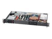 Supermicro Chassis, SuperChassis 510T-203B 1U RM Extra Compact 2x2.5 HS Bays PCIe 200W