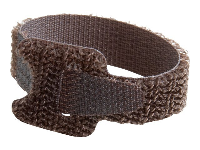 C2G Hook-and-Loop Cable Management Straps, Brown, 6, 12-pack