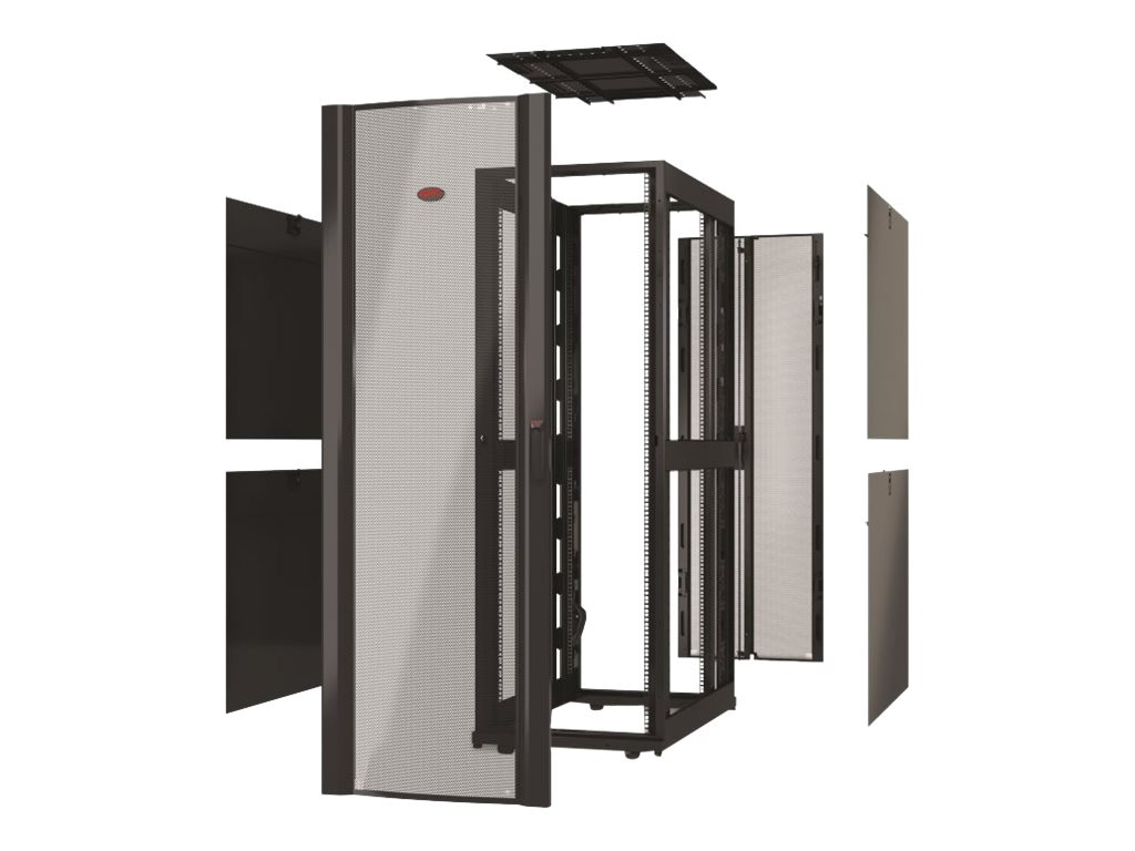 APC NetShelter SX 42U Enclosure, 600mm Wide x 1070mm Deep, w o Sides, Black, AR3100X609, 19053284, Racks & Cabinets