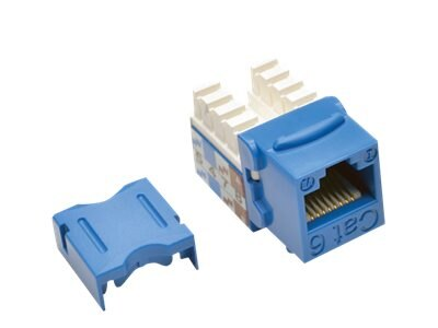 Tripp Lite Cat6 Cat5e 110-Style Punch Down Keystone Jack, Blue (25-pack), N238-025-BL