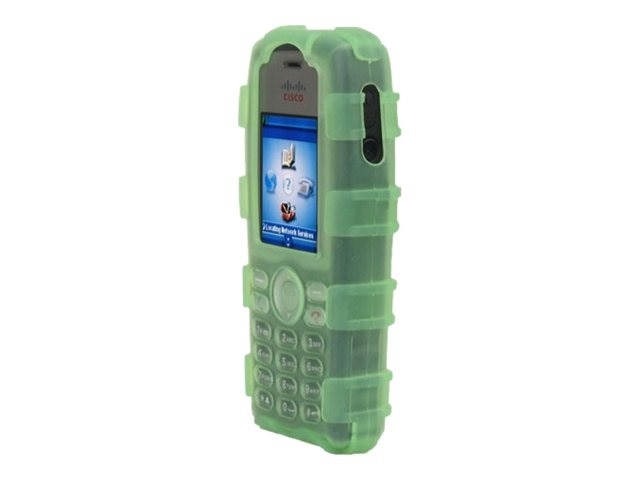 Zcover Silicone Ruggedized Dock-in-Case for Cisco 7925G 7925G-EX, Green, CI925HCG