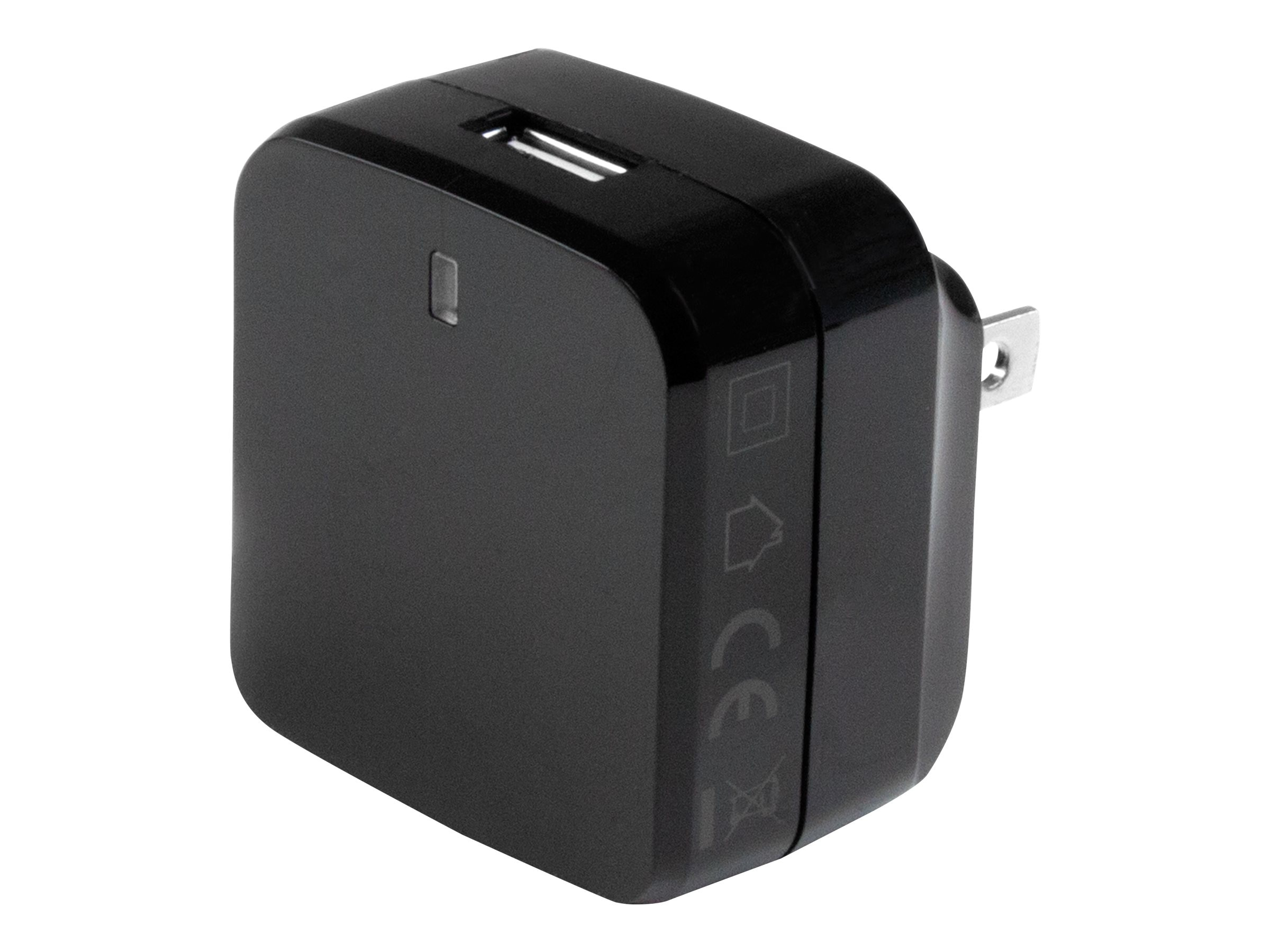 StarTech.com USB Wall Charger w  Quick Charge 2.0 for International Travel, Black, USB1PACVBK