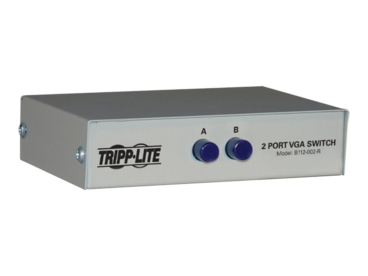 Tripp Lite 2-port Manual VGA SVGA Push-Button Switch, 3x HD15F, B112-002-R