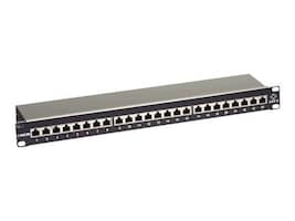 Black Box 24-Port Cat6 Shielded Patch Panel, 1U, JPS60A-24, 22071774, Patch Panels