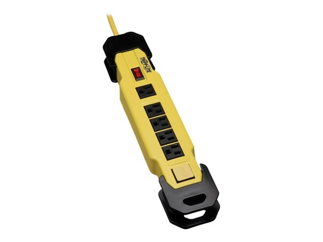 Tripp Lite Power It Safety Power Strip (6) Outlet GFCI Plug OSHA Yellow 9ft. Cord, TLM609GF