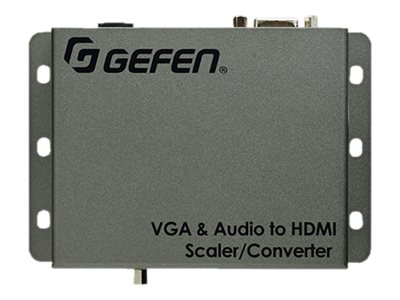 Gefen VGA to HDMI Scaler Converter with Audio, EXT-VGAA-HD-SC, 18743814, Scan Converters