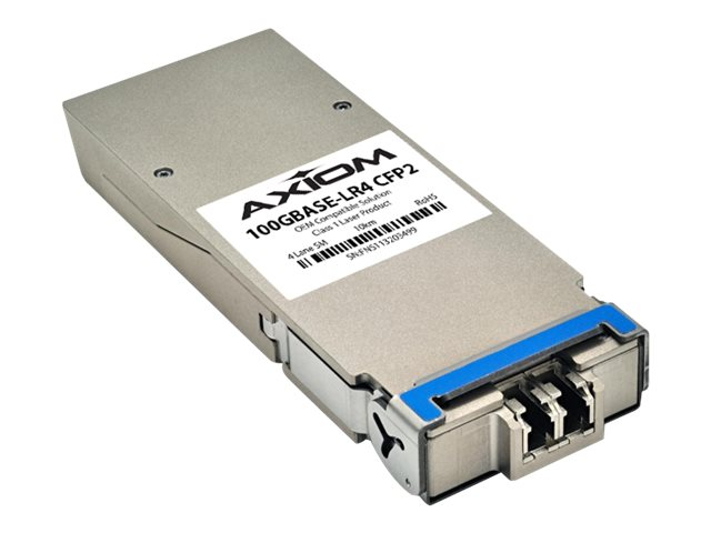 Axiom 100GBASE-LR4 CFP2 Transceiver for Brocade, 100GCFP2LR41-AX, 30916036, Network Transceivers