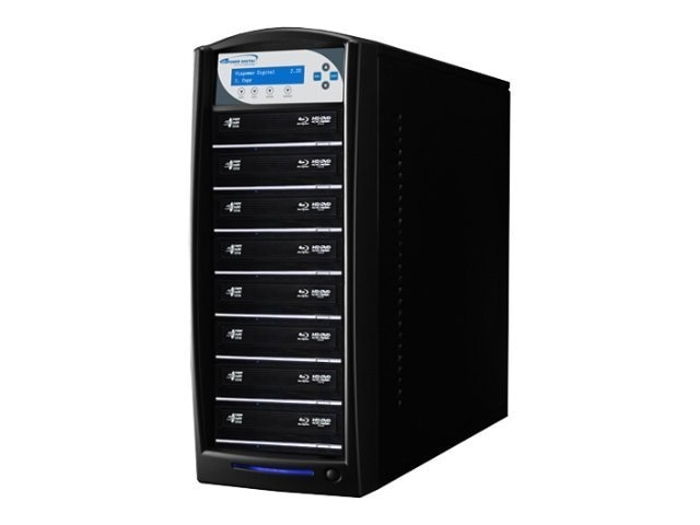 Vinpower SharkBlu Blu-ray DVD CD USB 3.0 1:8 Duplicator w  Hard Drive, BD-LG-8-BK, 15127418, Disc Duplicators