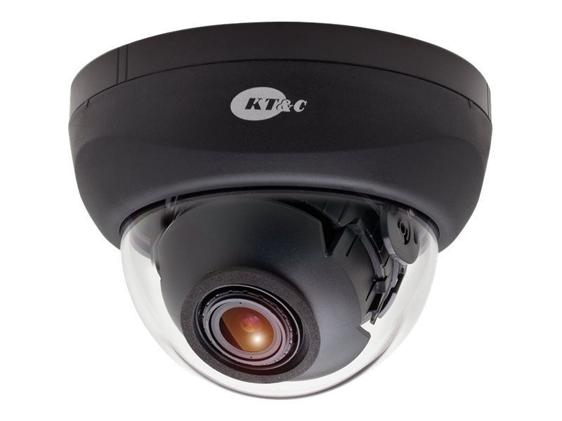 KT&C 750TVL 3-Axis Indoor Dome Camera with 2.8-11mm Lens, Black