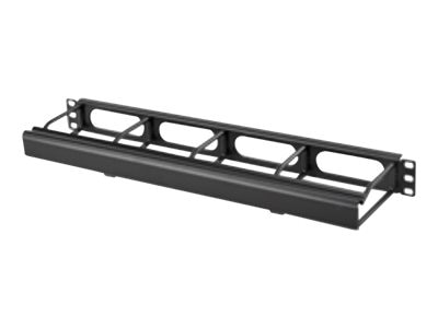 Hubbell Cable Management Duct Panel 1U, 4 Front Extension w  Cover, Black