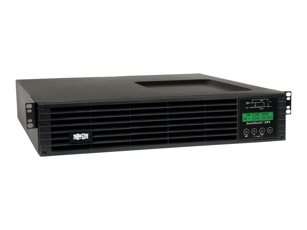 Tripp Lite SmartOnline 2.2kVA 1.8kW 120V Double-Conversion UPS, 2U RT, Extended Run, SNMP Card, LCD, USB, DB9