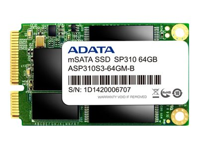 A-Data 64GB Permier Pro SP310 mSATA Internal Solid State Drive