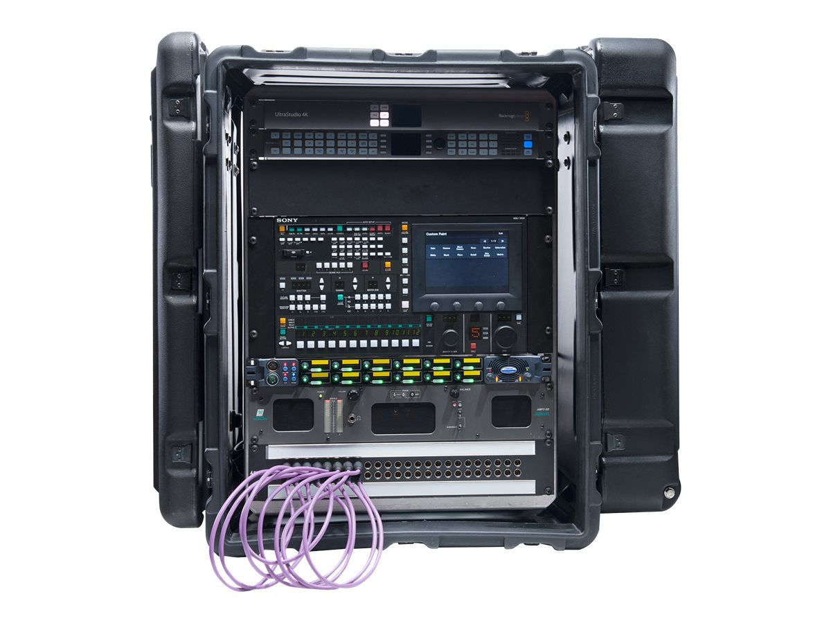 Pelican Hardigg Super V Series Rack Mount 14U Case, Black