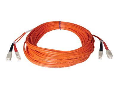 Tripp Lite Fiber Optic Cable, SC-SC, 50 125, Duplex Multimode, 1m, N506-01M, 454636, Cables