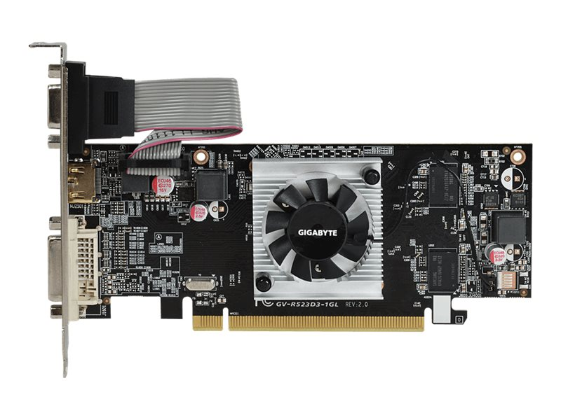 Gigabyte Tech Radeon R5 230 PCIe 2.0 Graphics Card, 1GB DDR3, GV-R523D3-1GL REV2.0